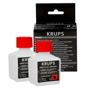 Krups XS9000 Flüssigreiniger für Kaffeevollautomaten mit Milchsystem, 2-er Pack 2x 100ml