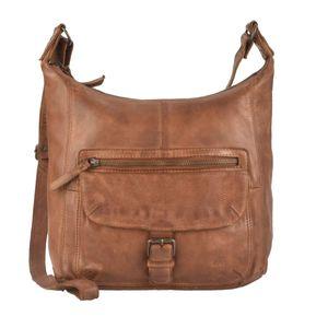 Bear Design Damen Tasche Ledertasche Umhängetasche Schultertasche 30cm cognac CL32612-cognac