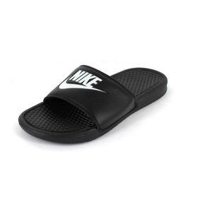 Nike Hausschuh Benassi Just Do it Größe 8, Farbe: black/white