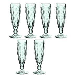 LEONARDO 021608, Champagnerflöte, 140 ml, Grün, Durchscheinend, 5 cm, 180 mm, 1 Stück(e)
