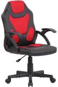 CLP Kinder Bürostuhl Dano höhenverstellbar, Farbe:schwarz/rot