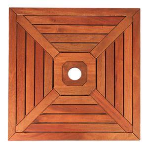 Abdeckung Sonnenschirmständer 64 x 64 cm Holz verschiedene Lochdurchmesser