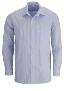 Olymp Comfort Fit Hemd Langarm Zündholzstreifen Hellblau/Weiß 0280/64/11, Größe: 40