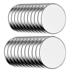 ECENCE Neodym Magnete 20 Stck. - runde Klebe-Magnete selbstklebend - 10x1,5mm - hochwertige NiCuNi-
