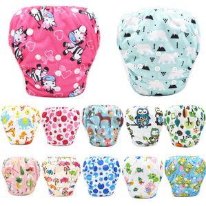 Schwimmwindel Baby, 2 Stück Schwimmhose für Baby, Junge, Mädchen (0-3 Jahr), One Size Badewindelhosen, Wiederverwendbare Schwimmwindeln Einstellbare für Kleinkinder,Zufällige Farbe