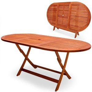 Ausziehbar Esstisch Gartentisch aus Akazienholz |160 x 85 x 75 cm Farbe Holz-Naturfarben |Garten Terrassen Tisch Gartenmöbel| Holztisch Esszimmertisch