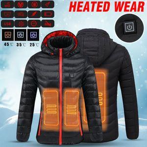 intelligente USB Beheizbare Winter Jacke Heizung Beheizte warmer Mantel Wasserdicht heating Jacket M