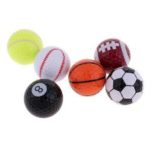Sport Themed Golfbälle, Die Durch Satz Von 6 Neuheit Ball Geschenk Idee