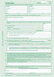 Kaufvertrag für Gegenstände aller Art - SD, 1 x 2 Blatt, DIN A4   Verkaufsmenge:  50 Stück