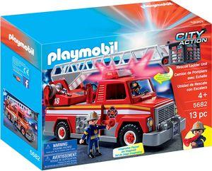 PLAYMOBIL 5682 Rescue Ladder Unit Feuerwehr Wagen mit Leiter US