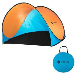 Wurfzelt Pop-up Zelt Automatikzelt Camping Strand Trekkingzelt UV - Blau+Orange