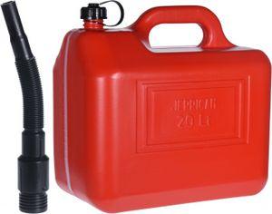 kanister mit Trichter 20 Liter rot