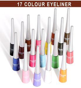 Bunte flüssige Eyeliner, 17 Farben, langlebig, wasserdicht, professionell, bunt, Eyeliner-Stifte-Set