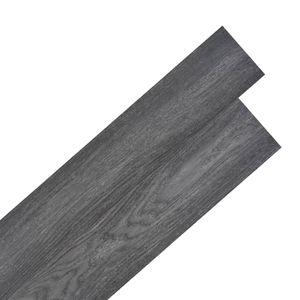 PVC Laminat Dielen Selbstklebend 5,02 m² 2 mm Schwarz und Weiß