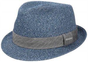 Stetson Trilby Hut Boston Reidton Toyo blau XL 60-61 cm