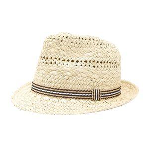 Kinder Strohhut Sommerhut Sonnenhut Strand Hut aus 100% Stroh Für Junge & Mädchen Beige wie beschrieben