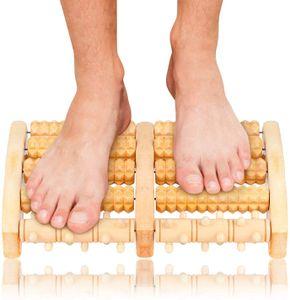 Holz Fußroller, Fußmassageroller, Fuß Massage für Stressreduzierung, Krämpfen, Arthrose, Fußschmerzen
