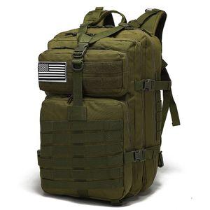Milit?rrucksack Rucksack Praktisch 800D Wasserdichte Oxford 40L Camping Tasche im Freien Taille Picknick Kordelzug Field Survival