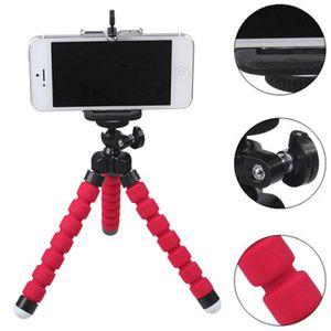 Rot Flexible Drehbar Stativständer Handyhalter Griffhalterung Kamera Fotolicht Video Smartphone Handyhalter Kamera Stativ Tripod Dreibein Flexibel Ständer Universal