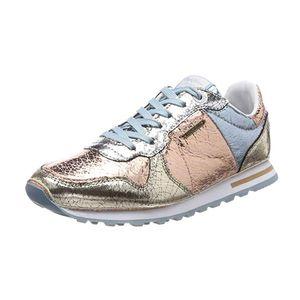 Pepe Jeans Damen Verona W Cracked Sneaker Silber Rose Metalic Schuhgröße: EUR 36