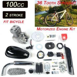 """2-Takt 100CC Gas Motor Benzin Motorisierte E-Bike Fahrrad Engine Kit 36 zähne CDI Luftkühlung für 26""""/28"""" Fahrrad"""