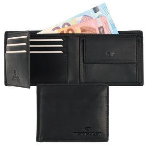 TOM TAILOR RON Herren Geldbeutel Portemonnaie Geldbörse mit RFID-Schutz Schwarz 7650