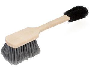Premium Felgenbürste / Radbürste von BÜMAG - Reinigungs- / Wasch-Bürste für schnelle, effektive und schonende Reinigung von Alufelgen, als Ergänzung zum Autoschwamm, Waschhandschuh und Felgenreiniger