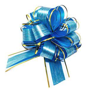 Oblique Unique Geschenkschleife Deko Schleife für Geschenke Tüten Zuckertüte Weihnachten Geschenkdeko - dunkelblau