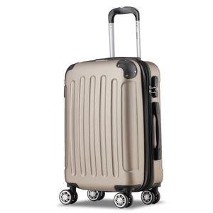 Koffer Flexot 2045 Handgepäck Koffer ( Bordcase ) - Farbe Champagner Größe M - Reisekoffer - Trolley Hartschale