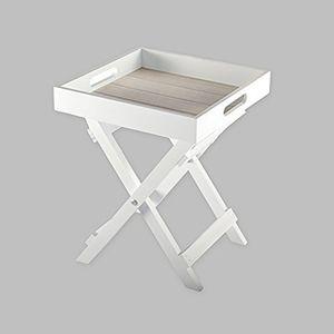Tablett - Tisch Klapptisch Holz Serviertisch Butlers Tray Beistelltisch klappbar