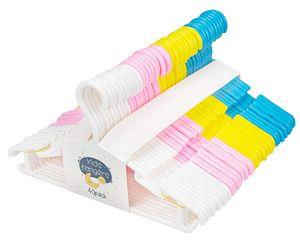 40 Stück Kleiderbügel Kinder Baby Kinderkleiderbügel Babykleiderbügel Kunststoff Hangers AufbewahrungSchrank Kleidung Länge 27,5 Blau/Pink/Weiß/Grün