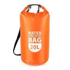 PVC trocken wasserdicht schwimmender Beutel Rolltop Trockenbeutel 10L / 20L Wassersport Aufbewahrungstasche Leichter trockener Sack