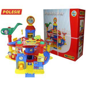 WADER Park Tower Autogarage Parkhaus Spielstraße mit 4 Ebenen + Autos Spielzeug