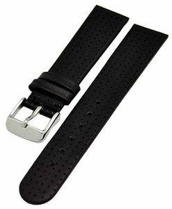Uhrenarmband mit Lochprägung Golfer Design 20mm schwarz