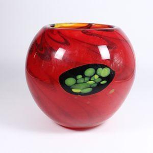 Kugelvase Red-Eye Murano 19,5cm