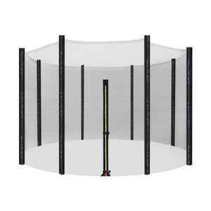 SONGMICS für Ø 305 cm Trampolin Sicherheitsnetz 8 Stangen Ersatznetz rundes Schutznetz Gartentrampolin STN10FT