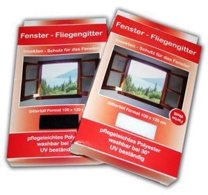FLIEGENSCHUTZGITTER Fliegengitter Fenster  Weiss 130x150 cm