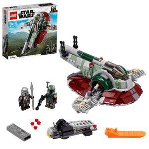 LEGO 75312 Star Wars Boba Fetts Starship™, Bauset Für Kinder Ab 9 Jahren, Mandalorian-Modell Mit 2 Minifiguren, Geschenkidee