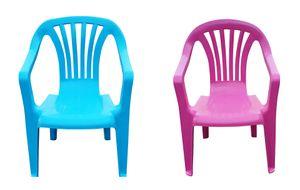 Kinder Gartenstuhl Stapelstuhl Kinderstühle Kindersessel Monoblock Farbe wählbar, Farbe:pink