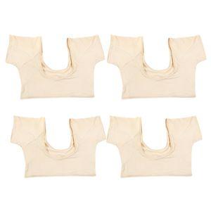 4 Stück Waschbare Achselpads T-Shirt Achsel Achselschutz Unterwäsche für Körperformung Yoga