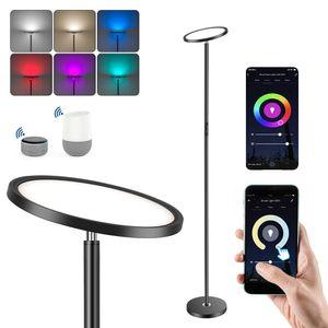 Smart LED Stehleuchte, 25W Dimmbar Standleuchte Stehlampe Deckenfluter mit RGB, Kompatibel mit Alexa / Google Assistant, APP Remote, ohne Fernbedienung