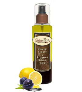 Sprühflasche Salatdressing 0,26L mit Olivenöl Limone & Pflaumen Balsam Essig in  Pumpspray Vinaigrette für unterwegs / Büro / Camping