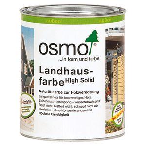 Osmo Landhausfarbe aus natürlichen Ölen in steingrau außen 750ml