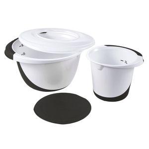 """keeeper Rührschüssel Set """"camilla"""" weiß / graphite"""