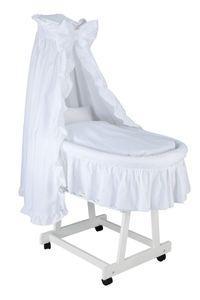 Cabino Romantic Babywiege Weiß - Komplettwiegenset