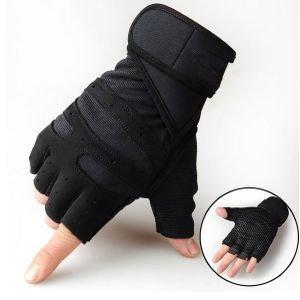 Training Sport Fitness Halbfinger handschuhe mit Handgelenkstütze | Ideal für Kraftsport
