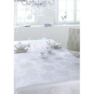 Curt Bauer Tischwäsche Damast Tischwäsche Tischtuch ca. 130 x 200 cm 3458-0000 Diana weiß