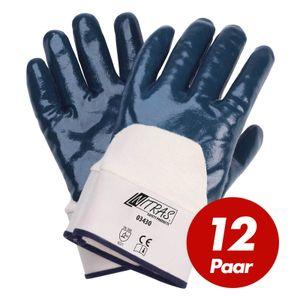 Nitrilhandschuhe 03430 3/4 Beschichtung Arbeitshandschuhe Gartenhandschuhe Handschuhe - 12 Paar Größe:9