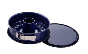 Dr. Oetker Springform mit 2 Böden Ø 26 cm BACK-LIEBE EMAILLE, Backform mit Rohr- und Flachboden, runde Kuchenform mit Emaille-Versiegelung (Farbe: Blau), Menge: 1 Stück