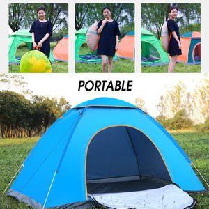 Tragbare Camping Zelt Unterschlupf 2 Personen Tunnelzelt Campingzelt Farbe: Blau